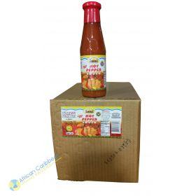 Box of Ocho Rios Hot Pepper Sauce, 8.6lbs 12 x 11.5oz