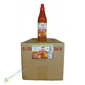 Box of Ocho Rios Hot Pepper Sauce, 9lbs 24 x 6oz
