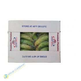 Box of Premium Plantains Light Green, 25lbs