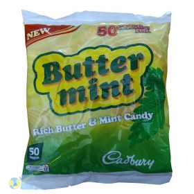 Butter Mint Candy, 50 Pieces, 7oz
