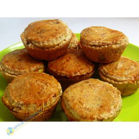 Nigeria Plantain Pies With Yam & Egg Filling