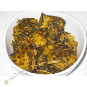 Nigeria How To Cook Yam Porridge With Bitter Leaves