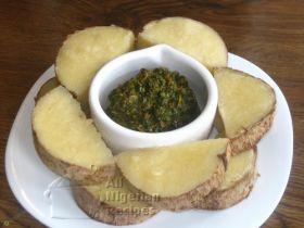 Nigeria Yam And Vegetable Sauce (Ji Abubo)